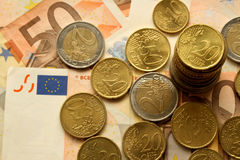 Argent d'argent d'argent Photo libre de droits