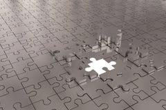 Argent d'avion de construction de puzzle Image libre de droits