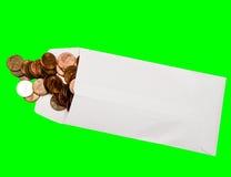 argent d'enveloppe Images stock