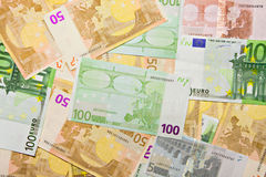 argent d'euro de billets de banque de fond Images libres de droits