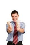 argent d'homme d'affaires photographie stock