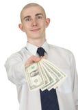 argent d'homme de main Image stock