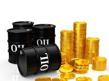 Argent d'huile Image libre de droits