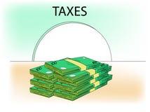 Argent d'impôts Photographie stock libre de droits