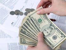 Argent d'impôts Photo libre de droits