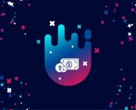 Argent d'argent liquide avec l'icône simple de pièces de monnaie banking Illustration de Vecteur