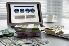 argent d'ordinateur portatif Photo stock