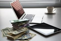 argent d'ordinateur portatif Images libres de droits