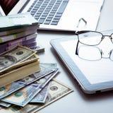 argent d'ordinateur portatif Photo libre de droits