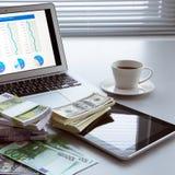 argent d'ordinateur portatif Image libre de droits