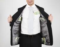 Argent dans des poches Image stock