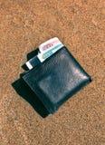 Argent dans le portefeuille photo libre de droits