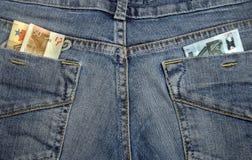 Argent dans les poches Image libre de droits