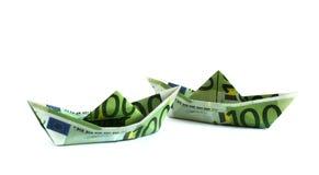 argent de bateaux Image stock