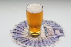 Argent de bière Photographie stock