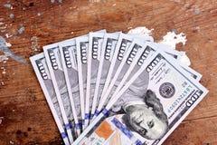 Argent de billets d'un dollar Photographie stock libre de droits