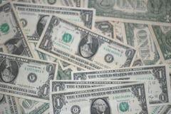 Argent de billets d'un dollar Photo libre de droits