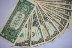 Argent de billets d'un dollar Images libres de droits
