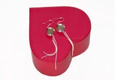 argent de cadeau de boucles d'oreille Image libre de droits