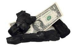 argent de charbon de bois Photos libres de droits