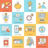 argent de concepts de calculatrice d'affaires Image libre de droits