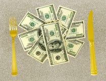 argent de couteau de fourchette Images libres de droits