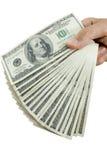 argent de doigts photographie stock