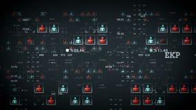 Argent de données de personnes illustration de vecteur