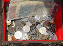 Argent de drachme photographie stock libre de droits