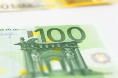 Argent de 100 euro notes Photos stock