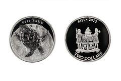 Argent de Fuji Taku pièce de monnaie 1oz 2013 des 2 dollars Photos stock