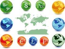 argent de globe illustration de vecteur