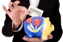 Argent de l'épargne Image stock