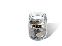 Argent de l'épargne d'honoraires dans le pot Photographie stock