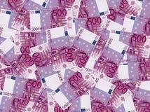 argent de l'euro 500 Images libres de droits