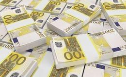 Argent de l'euro 200 euro fond d'argent liquide Euro billets de banque d'argent illustration libre de droits