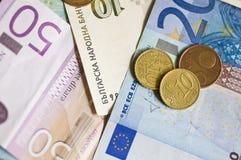 argent de l'Europe est Images stock