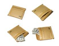 Argent de largeur d'enveloppe Photographie stock libre de droits