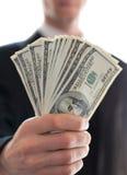 argent de main Photos libres de droits