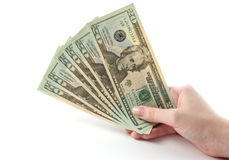 argent de main Images libres de droits