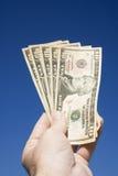 argent de main photographie stock libre de droits