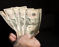 argent de main photographie stock
