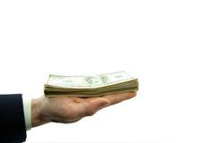 argent de main Photos stock