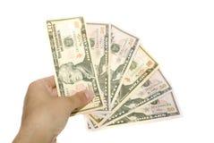 argent de main Image libre de droits