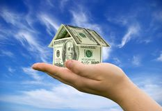 argent de maison Images stock