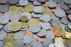 Argent de pièce de monnaie, argent thaïlandais de pièce de monnaie, fond d'argent de pièce de monnaie Photos libres de droits