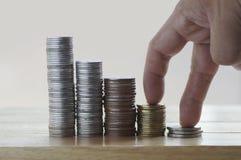 argent de pièce de monnaie de pile, concept dans l'élevage Image libre de droits