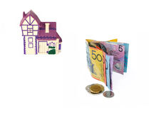 Argent de prêt immobilier images libres de droits