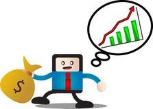 Argent de revenu Images stock