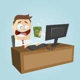 Argent de revenu sur l'ordinateur Photo libre de droits